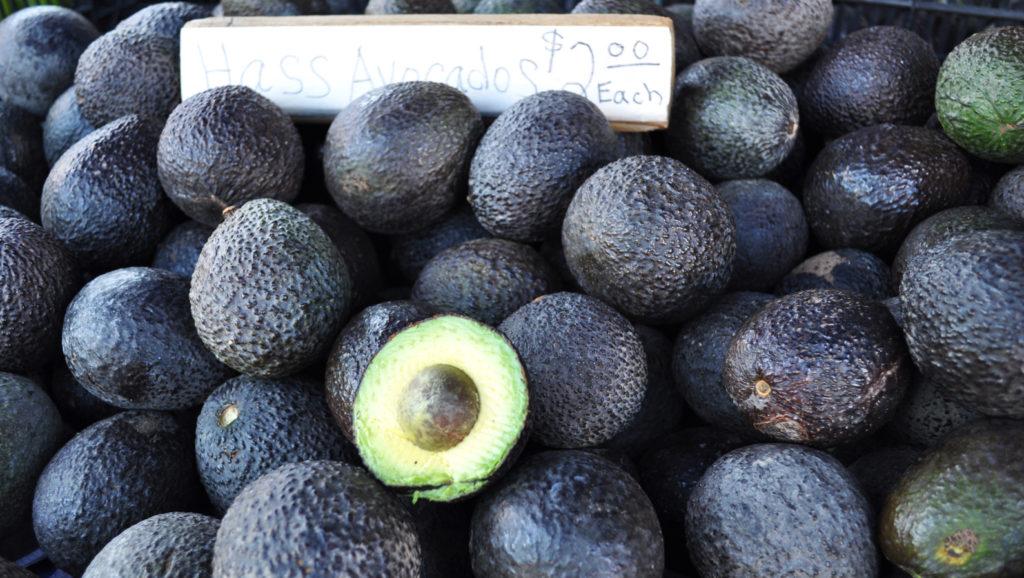 Avocados at Solvang Farmer's Market in December