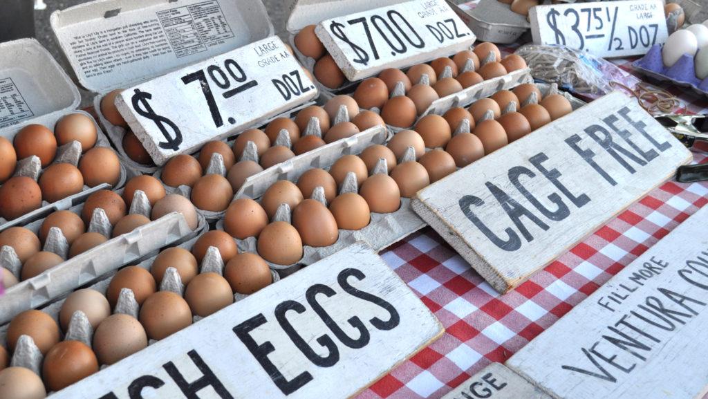 Eggs at Solvang Farmer's Market in December