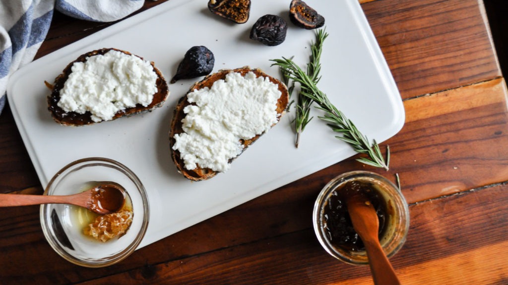 Sweet and Savory Ricotta Toast