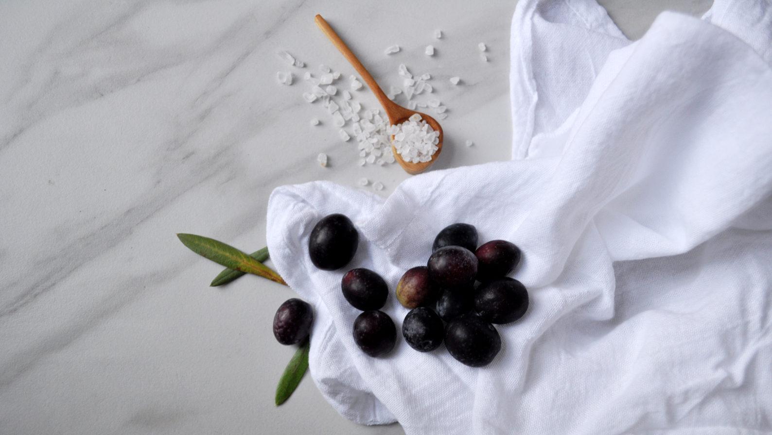 Homemade Salt-Cured Olives