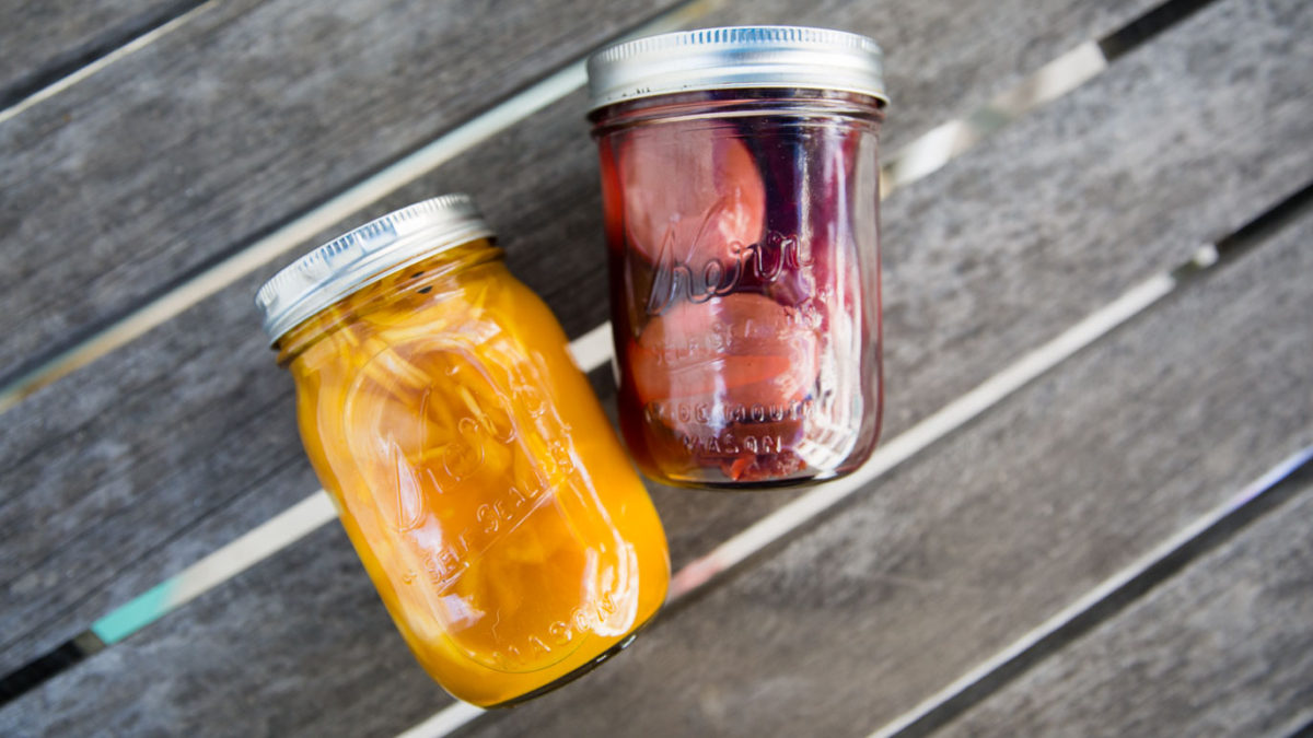 Turmeric + Beet Pickled Eggs