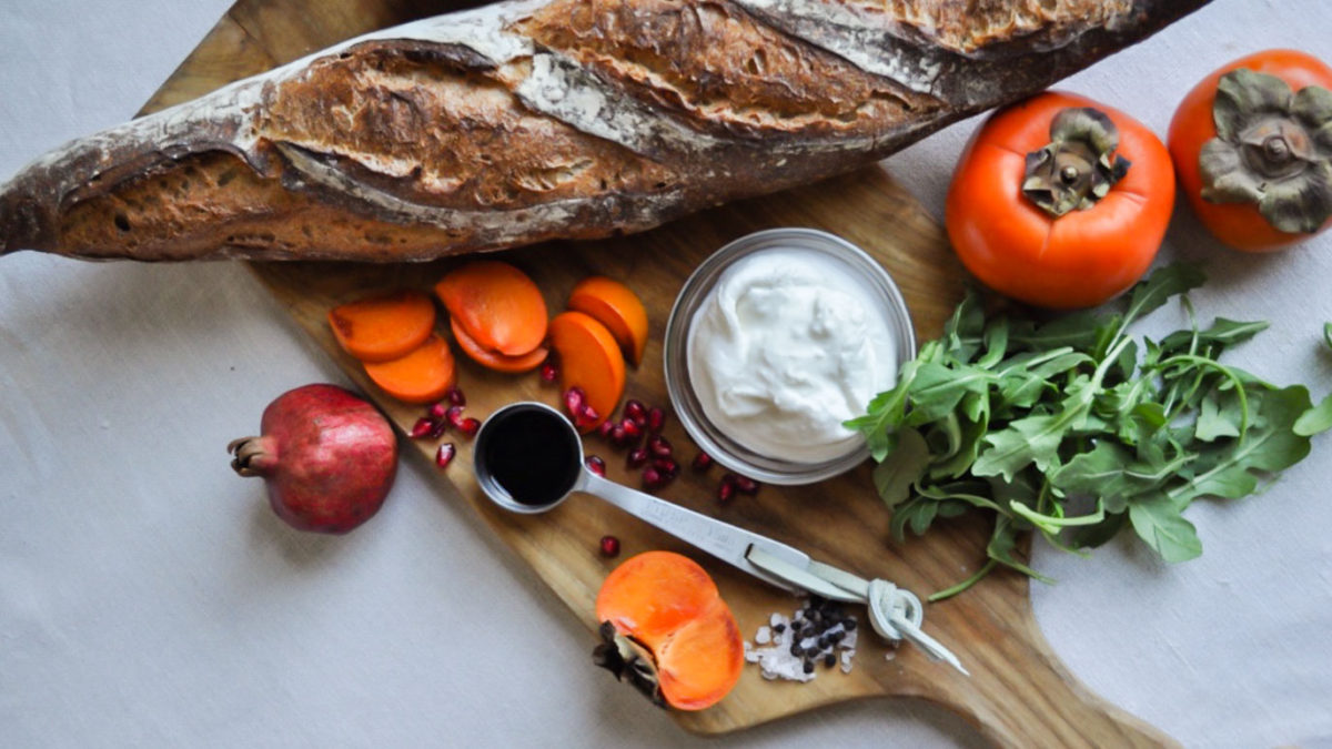 Persimmon and Ricotta Toast